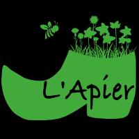 logo, L'apier, sophie berton, apiculture, patrimoine, abeille